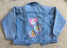Vintage Disney Store Princess Jean Jacket Size XXS Belle Cinderella