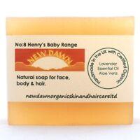 NEWBORN BABY SOAP & SHAMPOO BAR - New Dawn Organic Lavender Skin and Hair Care