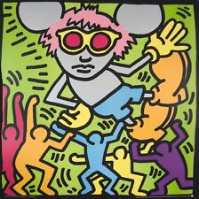 Andy Mouse (Dancing) by Keith Haring Serigraph Art Print 1986 Silkscreen 38x38