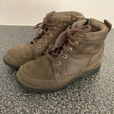 Boys Timberland Boots Size 1 Brown Junior Worn Rugged Earth Keepers Leather
