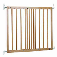 BabyDan MultiDan Wall Mount 23.9-40.1 Inch Doorway Safety Baby Gate, Beechwood