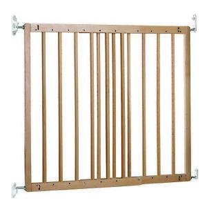 BabyDan MultiDan Wall Mount 23.9-40.1 Inch Doorway Safety Baby Gate, Beechwood