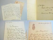 MALER und Bildhauer Alwin von STEIN (1848-1919): 3 signierte Briefe WIEN 1882