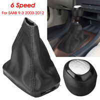 6 Speed Leather Gear Shift Knob Gaiter Boot Cover 55353898 55566206 For SAAB 9-3
