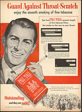 1952 Vintage ad for Pall Mall Cigarettes`Art Retro Package Tobacco (042617)