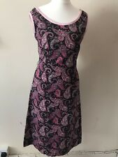 Vintage Paisley 1960s Dress Wiggle Secretary Hippy Size 6/8
