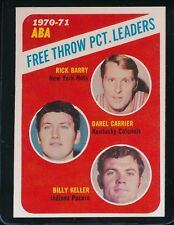 1971 TOPPS '70/71 ABA FREE THROW PCT LDRS BARRY-CARRIER-KELLER  NM/MT #149