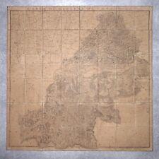 CASSINI. CARTE DU DIOCÈSE DE COMMINGES. 1781. PYRENEES.