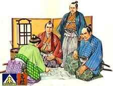 Aoshima Samurai Strategy Conference - sealed mint set #12 1/35th scale model kit