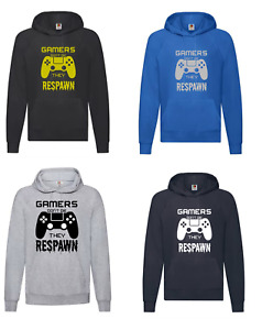 Boy's Gamers Gaming Hoodie Jumper Top Playstation PS4 Video Games Gift Present