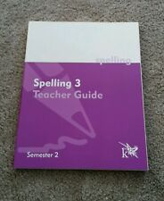 K12 Spelling 3 Teacher Guide Semester 2 Curriculum Book  (Paperback 2003)