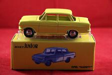 Opel Kadett A jaune Junior  Dinky Toys 106 Atlas F Neuf boite 1/43