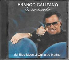 """FRANCO CALIFANO - RARO CD FUORI CATALOGO 1992 """" IN CONCERTO DAL BLUE MOON """""""