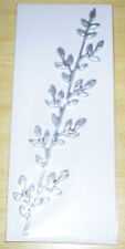 Verzierwachs - Ranke in silber, ca 11,5 cm x 1,5 cm für die Kerzen Verzierung.
