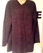 Vintage Italian Reversible Wool Jacket SWING Coat Triangle Geo Wine Red Marle SM