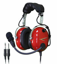 NEW C20R COBRA PILOT AVIATION HEADSET (RED)