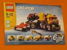 Lego Set 4891 INSTRUCTIONS ONLY Highway Haulers Creator Manual Booklet Crane Car