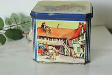"SCATOLA VINTAGE IN LATTA ""CRUMPSALL & CARDIFF""  / ENGLISH BISCUITS TIN BOX"