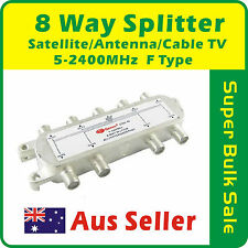 8 Way Splitter Satellite/Antenna/Cable TV  5-2400MHz F TYPE