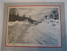 "R. W. WOICESKE ""DEEP SNOW"" GREETING CARD NO. 15102 -  TUB Q"