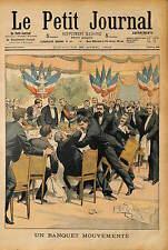 BANQUET Camille Pelletan Ministre de la Marine BAGARRE 1903