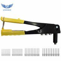 40PCS Riveter Gun Set Blind Rivet Hand Tool Kit Gutter Repair Heavy Duty