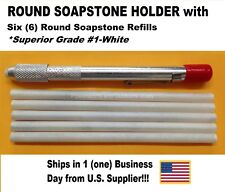 ROUND SOAPSTONE HOLDER WITH  6 REFILLS (US Supplier) Free Shipping!