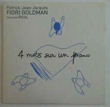 PATRICK FIORI / JEAN-JACQUES GOLDMAN / RICOL : 4 MOTS SUR UN PIANO ♦ CD SINGLE ♦