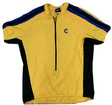 Cannondale 3/4 Zip Cycling Jersey XL Extra Large Men's Yellow