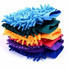 Hot Durable Microfiber Mitt 1 Pcs New Valeting Car Wash Chenille Cleaning
