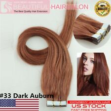 """Best Quality AAAAA 16''-24"""" Tape-In 100% Premier Remy Human Hair Extensions USA"""