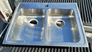 """Elkay LR29221 29"""" Stainless Steel Sink Drop In 1-Hole 11.5"""" x 16"""" Double Basin"""