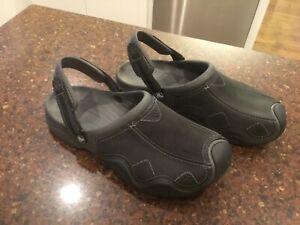 CROCS mens black clogs size 12
