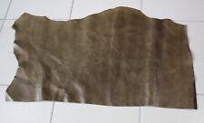 L271 Lederhaut Rindleder Rest khaki genarbt Vintage 0,45 qm 1,8 mm Larp Schuhe