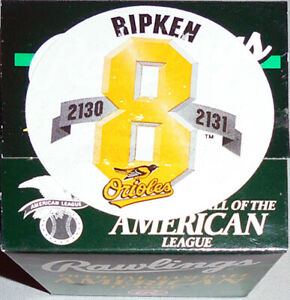 11 -Sealed- 1995 -Cal Ripken Jr.- Games 2130/2131 Rawlings Budig OAL Baseballs
