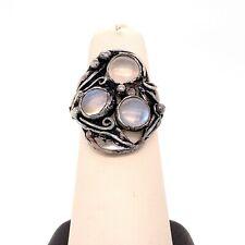 Artisan Size 6.5 Ring! 50 Vtg Estate Sterling Silver & Moonstone