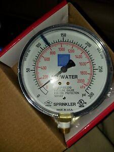 Lot of 3   FPPI-PG AIR WATER PRESSURE GAUGE ,0-300 PSI  SPRINKLER