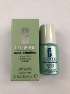 CLINIQUE Acne Solutions Acne + Line Correcting Serum 0.24oz/7ml NEW IN BOX Mini