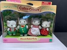 Calico Critters Ellwoods Elephant Family 4 Figure Set