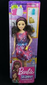 Barbie Babysitting Skipper Doll Brunette/Black Hair, with Phone and Baby Bottle