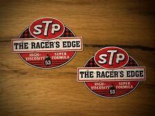 2x STP Aufkleber Öl Vintage Hotrod Rat Rod Old School Oldtimer Airride Low  #289