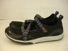 Womens sz 10 W Wide Ryka Kailee Black Purple Criss Cross Mary Jane Sneaker Shoes
