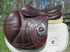 """17.5"""" CWD SE25 2GS CALFSKIN French close contact jumping saddle 3C-2018 MODEL!!"""