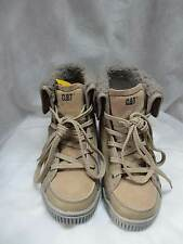CATERPILLAR LEATHER-SUEDE HIGH TOP FUR CUFF TRAINERS ANKLE BOOTS EUR 33 - NEW
