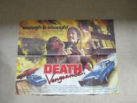 Vintage Movie poster - Original - Death Vengence 101 x 75 cm - 1982