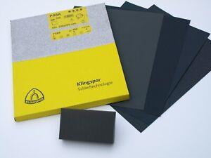 Wet and Dry Sandpaper & Sanding Block Kit 60 - 2500 Grit KLINGSPOR Sand Paper