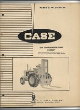 Original Case 530 Construction King Forklift Parts Catalog 918 Dated March 1964