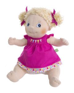 Linnea von RubensBarn Kids 36cm Stoffpuppe m. rosa Kleid Rubens Barn Puppe 90077