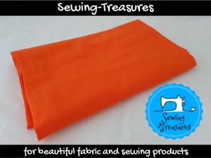 Orange ~ Solid Plain Cotton Lycra Fabric Stretch Knit Fabric