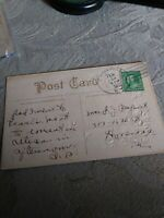 George Washington 1 Cent Stamp 1912 On. Valentine's Post Card Dated Feb 13th